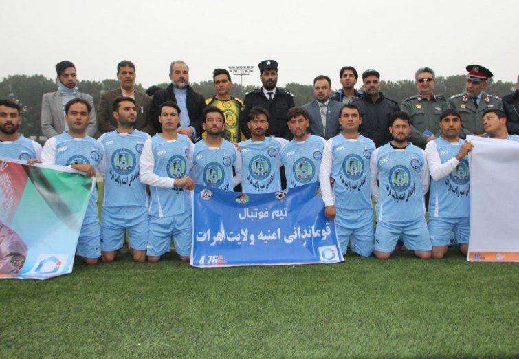 جام فوتبال یادواره شهدای نیروهای امنیتی کشور در هرات برپا شد