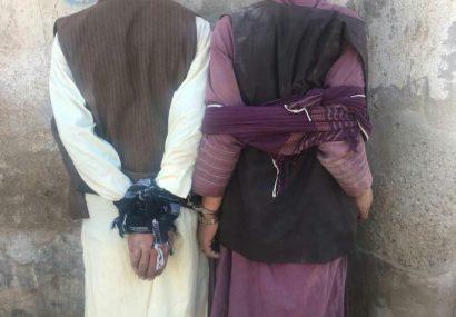 دو سارق مسلح به دام پولیس هرات افتادند