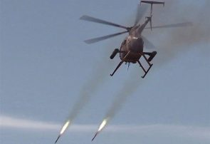 حمله هوایی در نیمروز دو موتر مواد مخدر را از بین برد