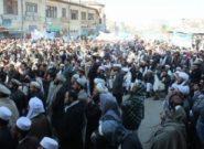 صدها نفر در مرکز بادغیس علیه دولت اعتراض به راه انداختند