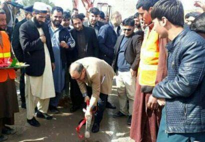 پروژه ساخت کانال در گذر طاهریان ناحیه دوازدهم شهر هرات افتتاح شد