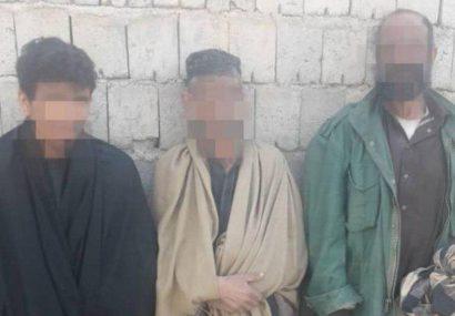 پولیس فراه سه تن را هنگام دزدی گرفت