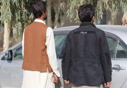 پولیس هرات دو نفر را هنگام سرقت یک موتر کرولا دستگیر کرد