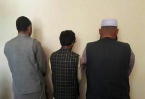 پولیس هرات سه نفر را با سلاح و مهمات دستگیر کرد