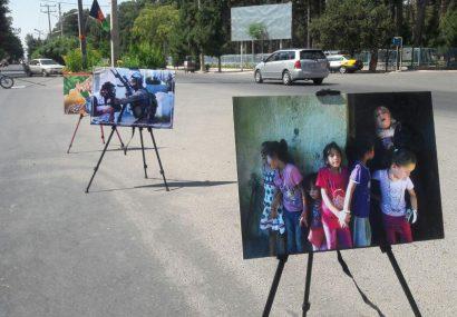 نمایشگاه خیابانی عکس با موضوع قدس در شهر هرات برپا شد