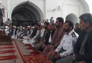 نماز عید فطر با تدابیر شدید امنیتی در مسجد جامع شهر هرات برگزار شد