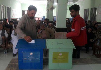 انتخابات ریاست مجمع و اعضای شورای رهبری هلال احمر هرات برگزار شد