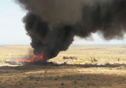 پولیس هرات ۳۱ تن مواد مخدر را به آتش کشاند