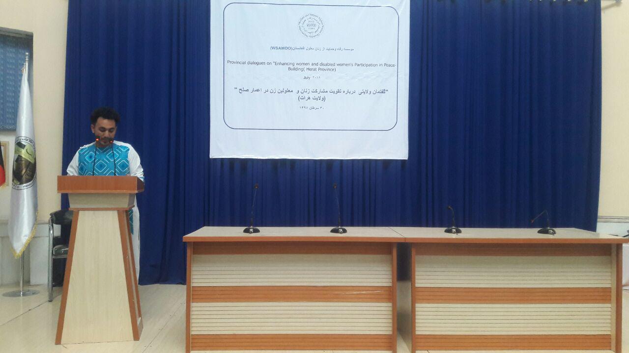 گفتمان صلح ولایتی در هرات با موضوع مشارکت زنان در روند صلح برپا شد