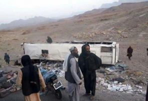 حادثه شاهراه هرات – کابل ۳۳ کشته و ۱۵ زخمی از سرنشینان بس مسافربری گرفت