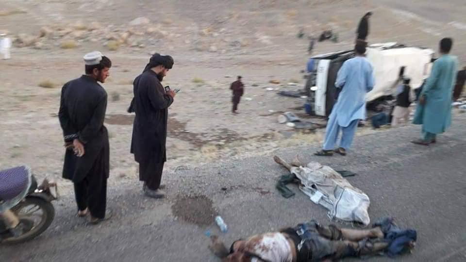 انفجار نیرومند ماین با ۳۴ کشته و ۱۷ زخمی در شاهراه هرات – قندهار
