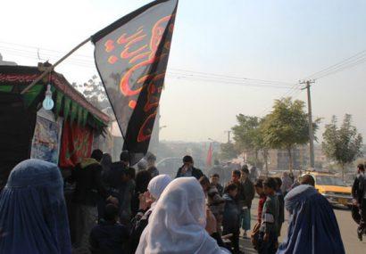 مراسم عزاداری روز عاشورا تحت تدابیر امنیتی در فراه برگزار شد