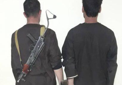 دو فرد تفنگدار در هرات بازداشت شدند