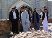 والی هرات به جلب منابع مالی بیشتر برای بازسازی مسجد جامع تاکید کرد
