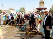 شهروندان قلعهنو بادغیس کارزار نظافت شهری را به راه انداختند