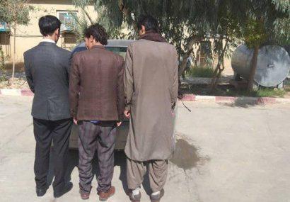 اعضای یک باند سرقت موتر در نیمروز به چنگ پولیس افتادند