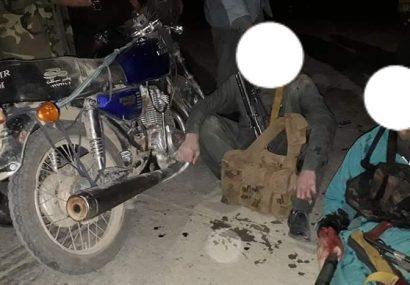 پولیس غور دو مرد مسلح را زخمی و دستگیر کرد