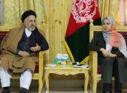 خانوادههای مستحق شهدای نیروهای امنیتی و بیجاشدگان در هرات زمین دریافت میکنند