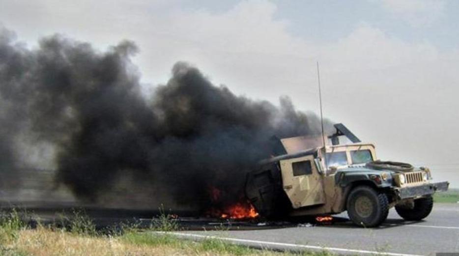 تانک پولیس بادغیس طعمه ماین طالبان شد/شش کشته و چهار زخمی