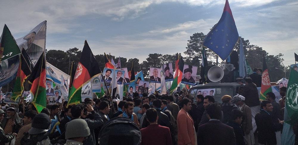 تظاهرات هزاران نفری مردم هرات در مقابله با تقلب انتخاباتی