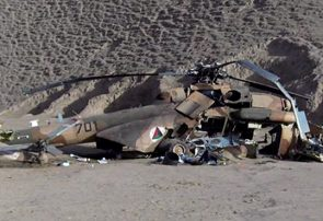 سقوط چرخبال نظامی در فراه جان دو خلبان را گرفت