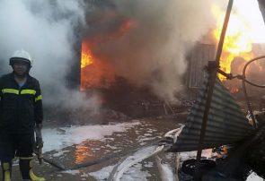 آتش سوزی سنگین در جاده لیلامی هرات/خسارات سنگین مالی
