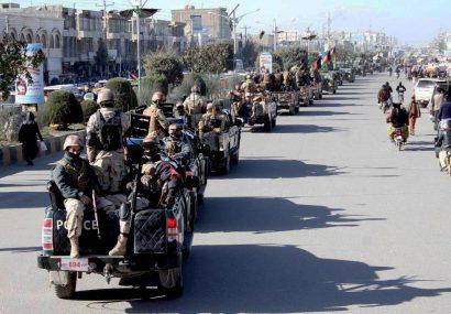 اجرای طرح امنیتی هرات با بر پایی مانور نظامی آغاز شد