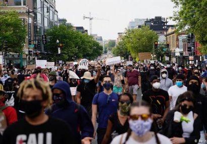اعتراضات مردم امریکا کاخ سفید را مسدود کرد