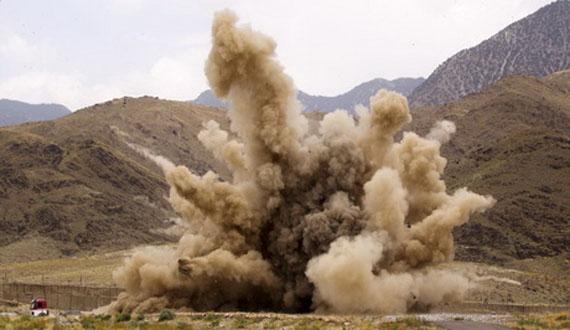 انفجارماین دست ساخته طالبان پنج فرد این گروه را کُشت