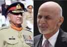 محمد اشرف غنی با رئیس ستاد ارتش پاکستان در کابل دیدار کرد