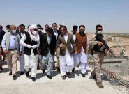 بازدید محمد اشرف غنی از بند کمال خان/ساخت این بند تا چهار ماه دیگر به اتمام میرسد