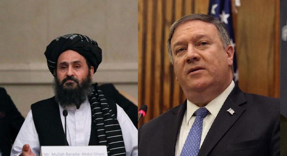 پمپو با ملابرادر در مورد صلح بین الافغانی صحبت کرد