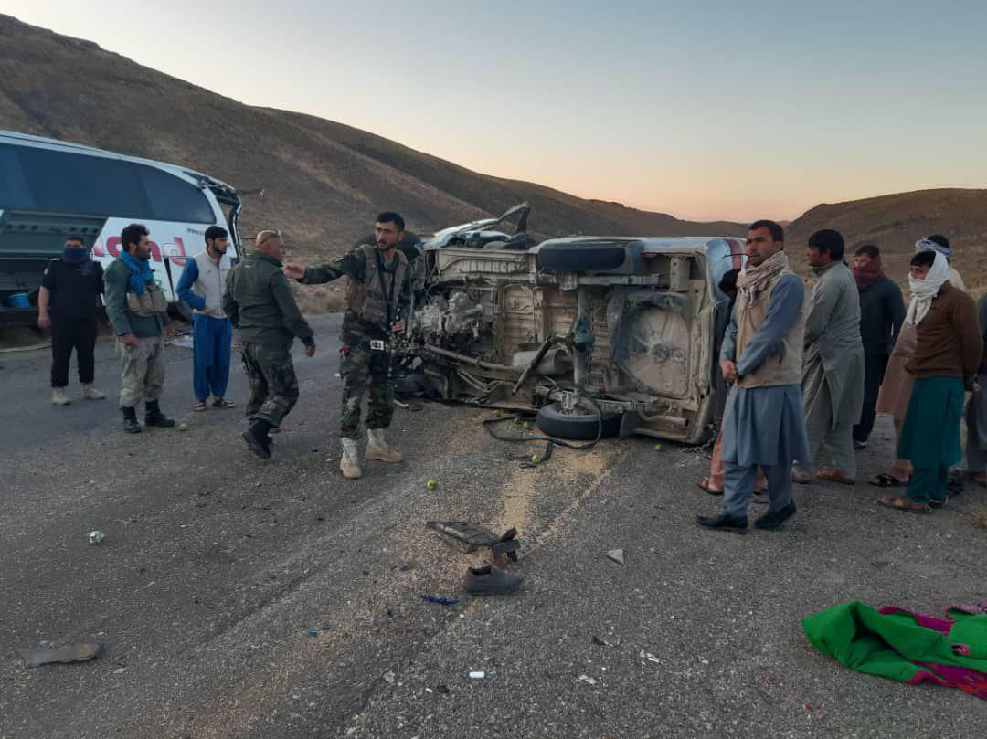 حادثه ترافیکی در مسیر شاهراه هرات – قندهار جان ۱۰ تن را گرفت