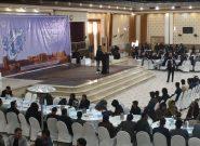 جوانان هراتی در زیر یک سقف جمع شده خواهان صلح و توقف جنگ شدند