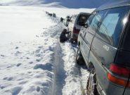 برف باری مسیر هرات – غور را مسدود کرد