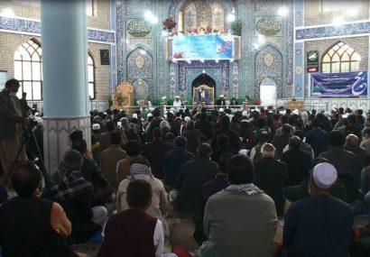 همایش برزگ از هفته وحدت در مدرسه علمیه صادقیه هرات برگزار شد