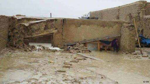 خانه خرابی در اثر سیلابها در بادغیس