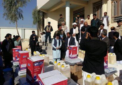 توزیع کمک از دسترخان ملی ادامه دارد