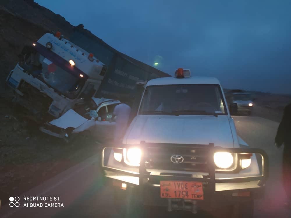 حادثه ترافیکی در مسیر شاهراه هرات رباط سنگی جان هفت را گرفت