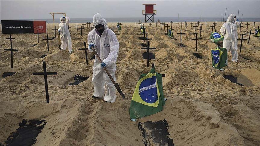 بدترین روز کرونایی در برزیل؛ مرگ بیش از ۴۰۰۰ نفر در شبانه روز گذشته