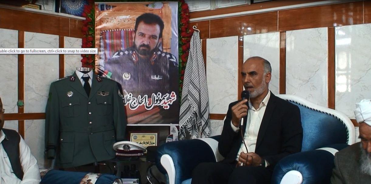 بزرگداشت از اولین سالگرد شهید غلام سخی حسینی در هرات