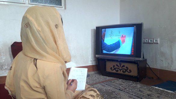 در پی محدودیت کرونایی در هرات، از فردا دروس مکاتب از طریق تلوزیون آغاز میشود
