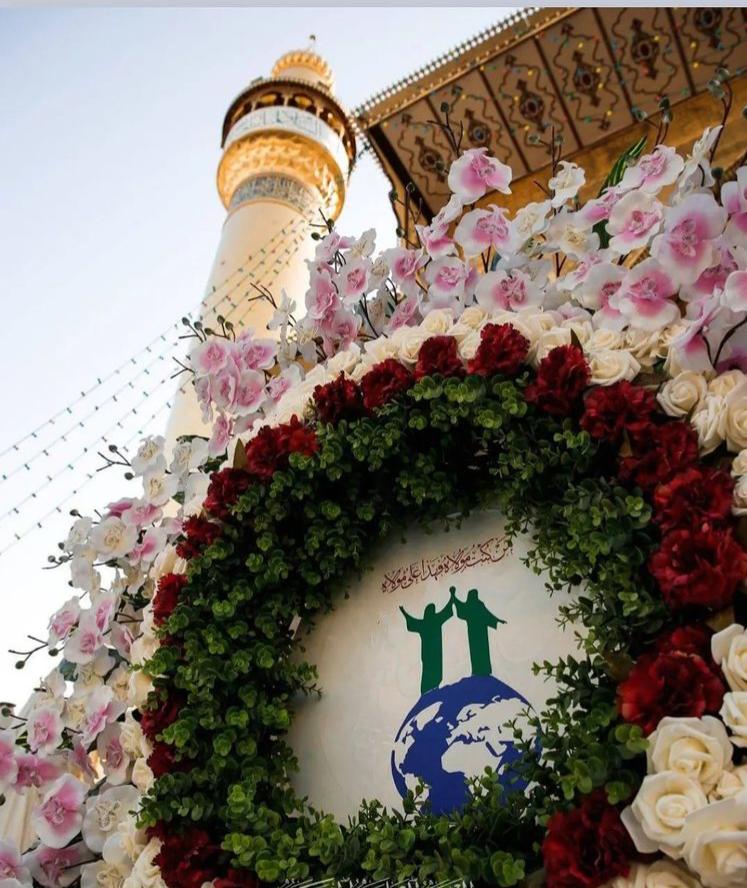 تزئین حرم مطهر حضرت امیرالمومنین علی (ع) در روز غدیر