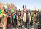زنان غور در حمایت از نیروهای امنیتی سلاح برداشتند