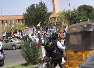 با خروج امریکا از کشور، در غرب افغانستان طالبان محافل پیروزی و راهپیمایی راه انداختند