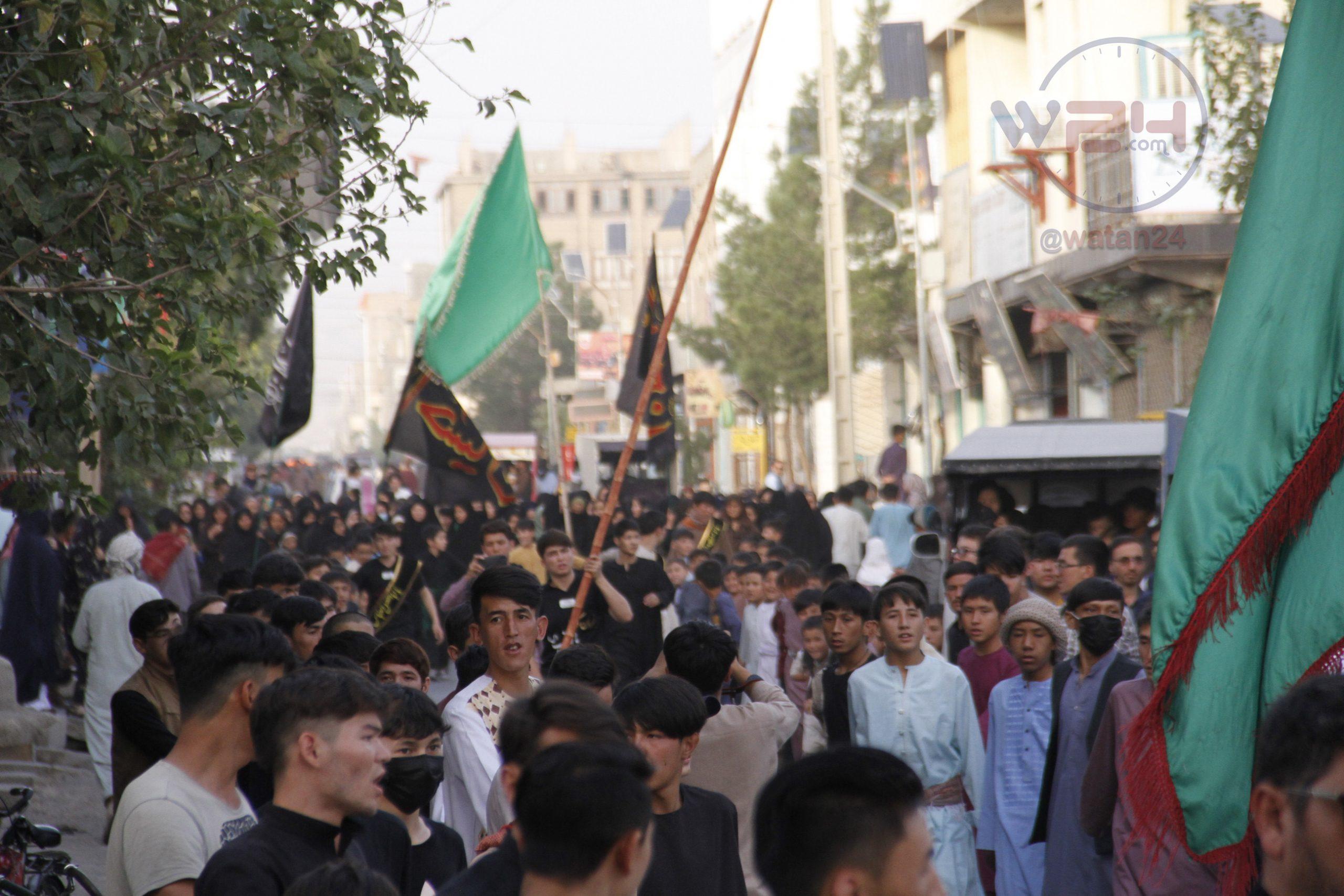 راهپیمایی باشندگان هرات به مناسبت اربعین حسینی