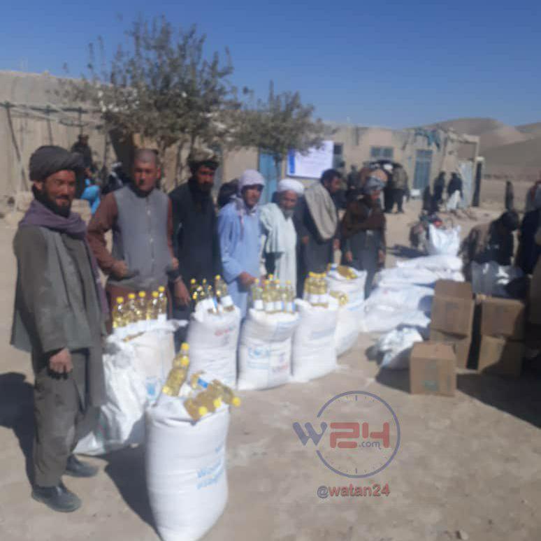 برای ۶۵۰۰ خانواده در تمام ولایت بادغیس مواد غذایی و غیرغذایی کمک شده است
